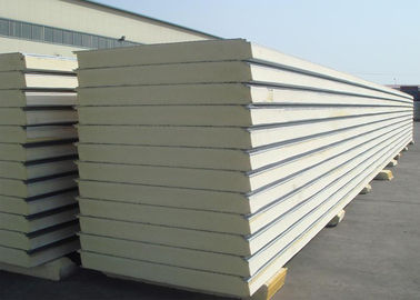 Insulated Polyurethane Sandwich Panel Polyurethane Foam Wall Panels For Clean Rooms