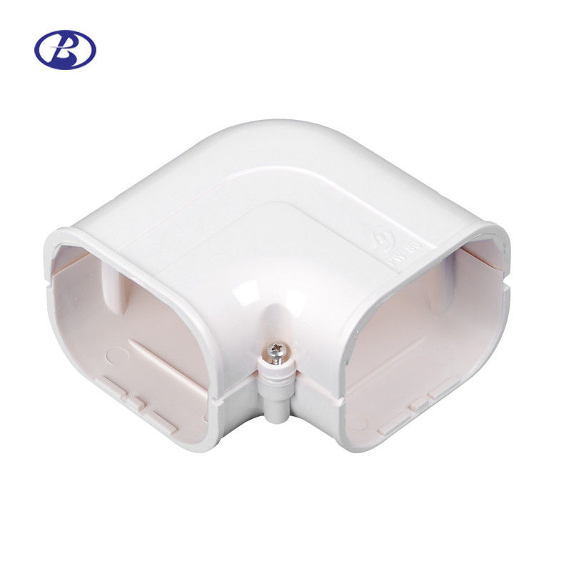 100mm AC Duct Kits Air Conditioner Pipe Cover Fitting PVC Plane Corner pemasok